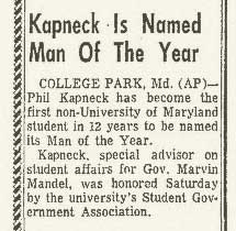kapneck man of year, march 1 1971.