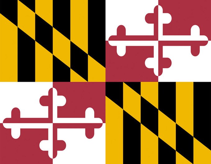 maryland state flag.