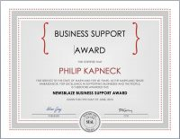 philip kapneck business support award.